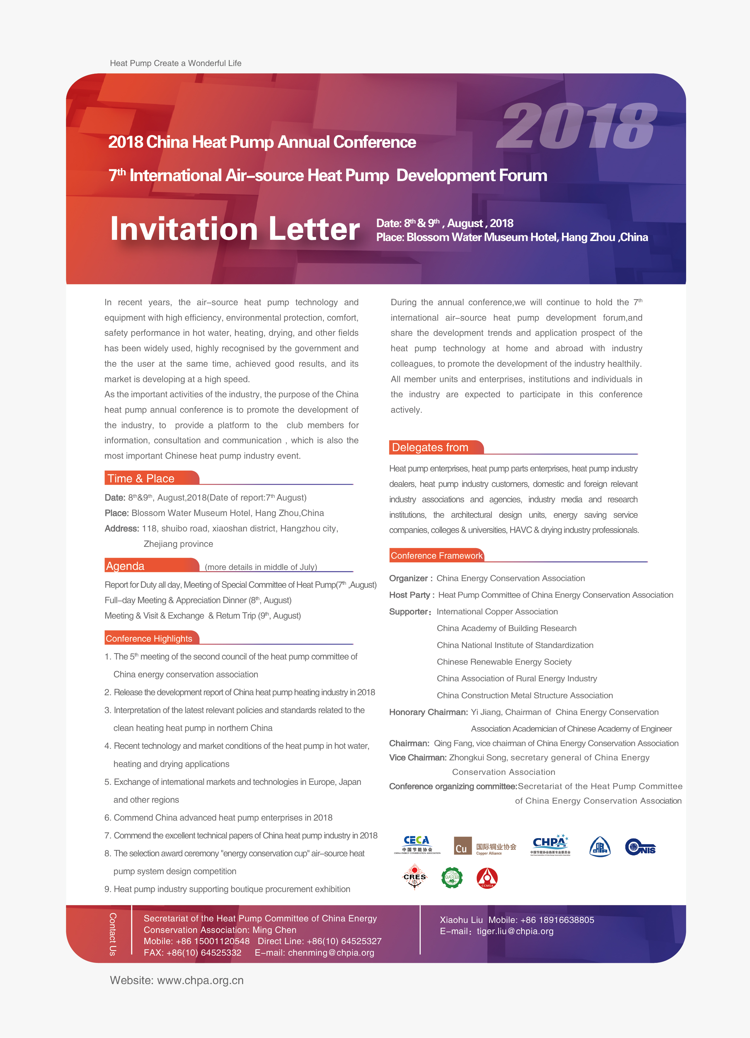 English Invitation Letter Hpt Heat Pumping Technologies